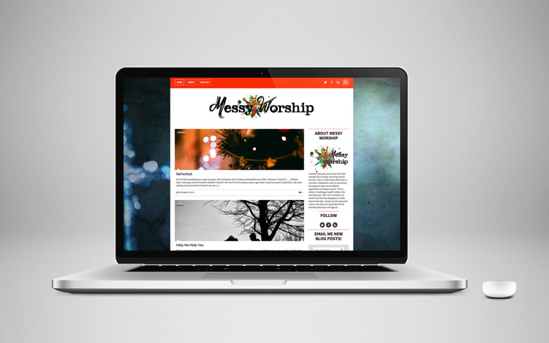 Messy Worship Blog Design