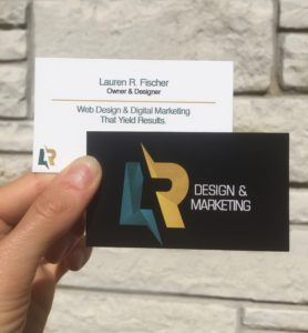 LR Design Business Cards