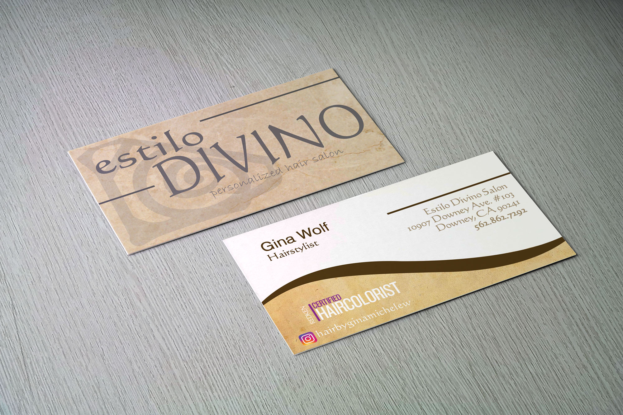 Hair Salon Business Card - LR Design
