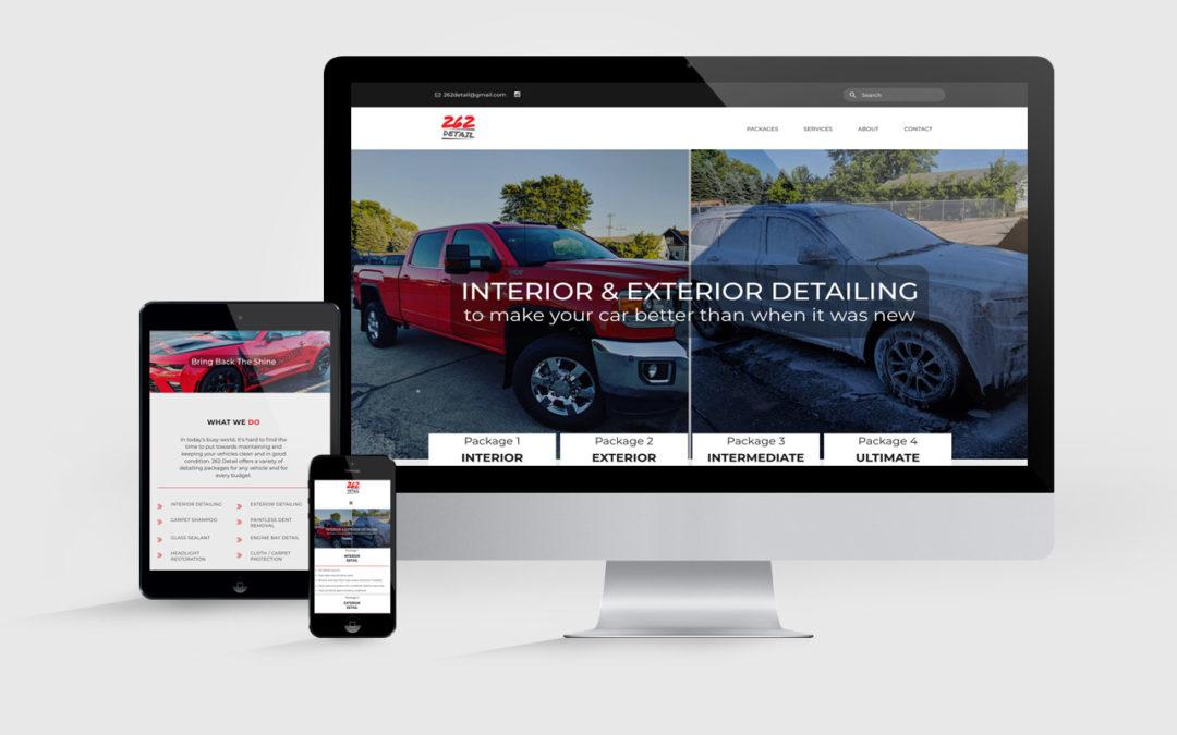 Web Design for Car Detailing Company