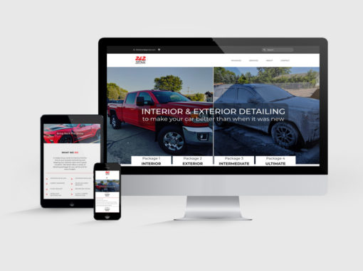 Web Design for Car Detailing Company