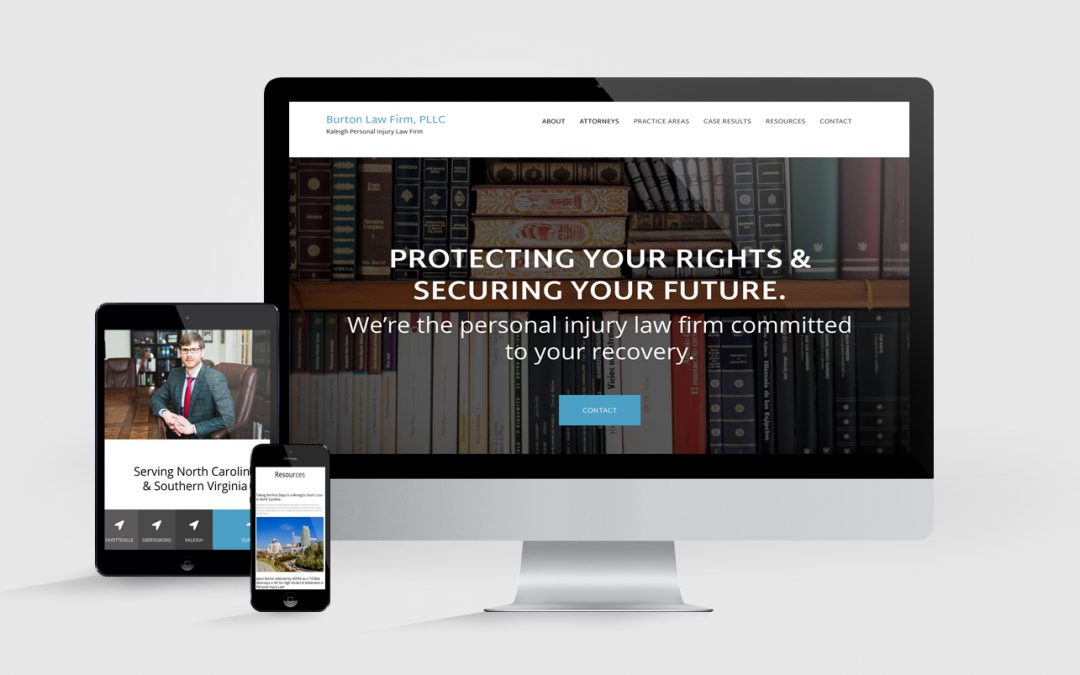 Web Design Mockup for Law Firm
