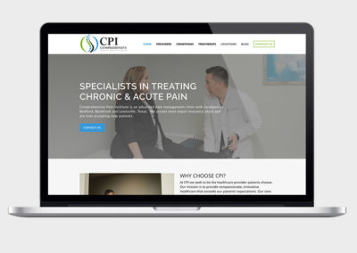 CPI Pain Clinic Web Design