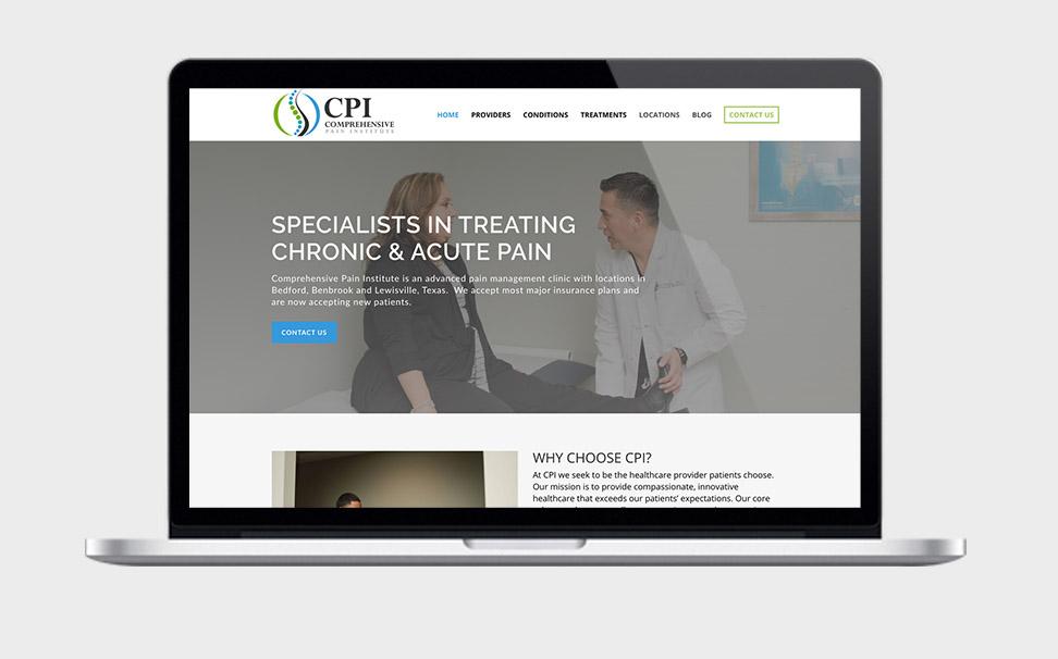 CPI Pain Clinic Web Design