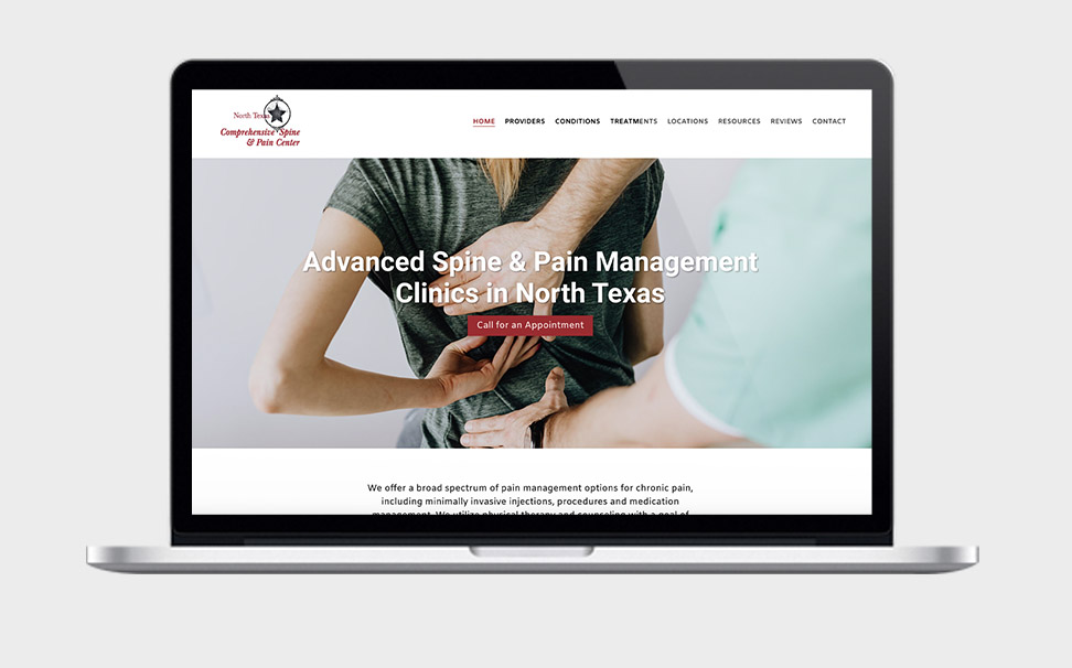 pain practice web design