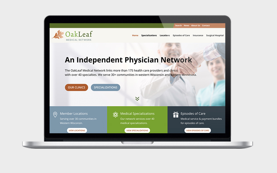 medical network wordpress web design