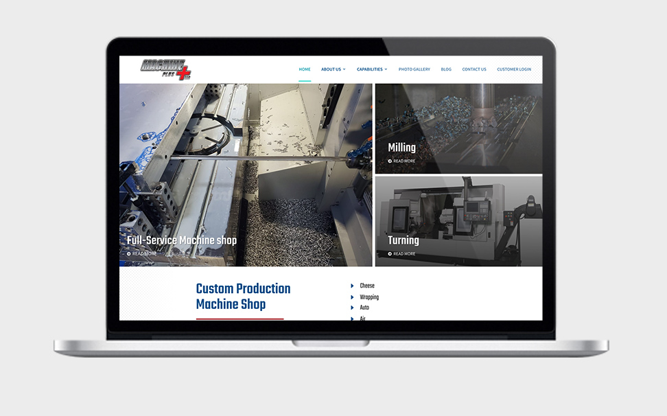 Web Design for Machine Shop