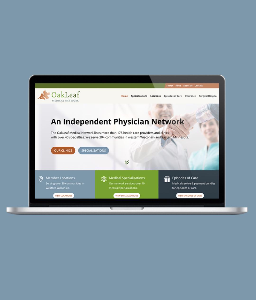 medical network wordpress web design